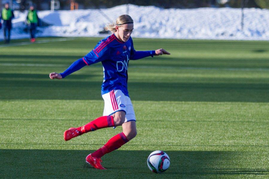 Elías Már Ómarsson er med i kamptroppen mot Holmen i dag,