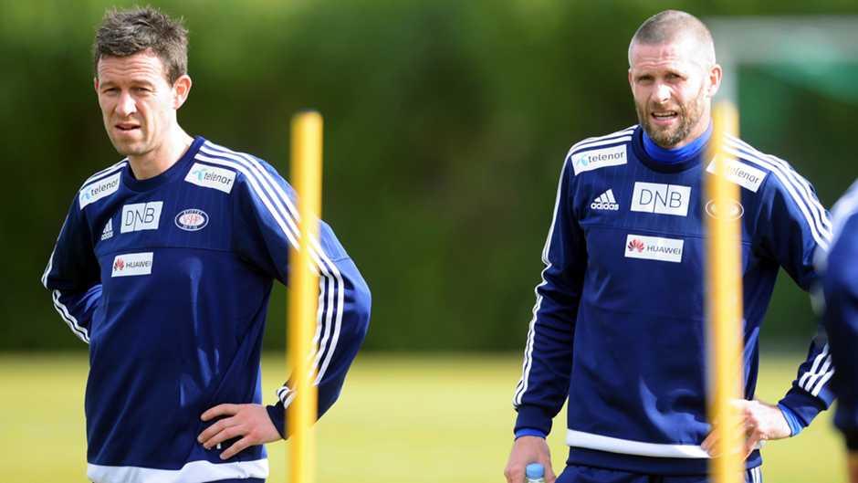 Morten Berre og Kjetil Wæhler på trening på La Manga. Foto: vif-fotball.no.