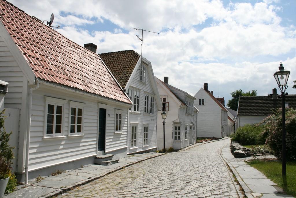 Yrende folkeliv i Stavanger sentrum (Wikipedia Commons CC)