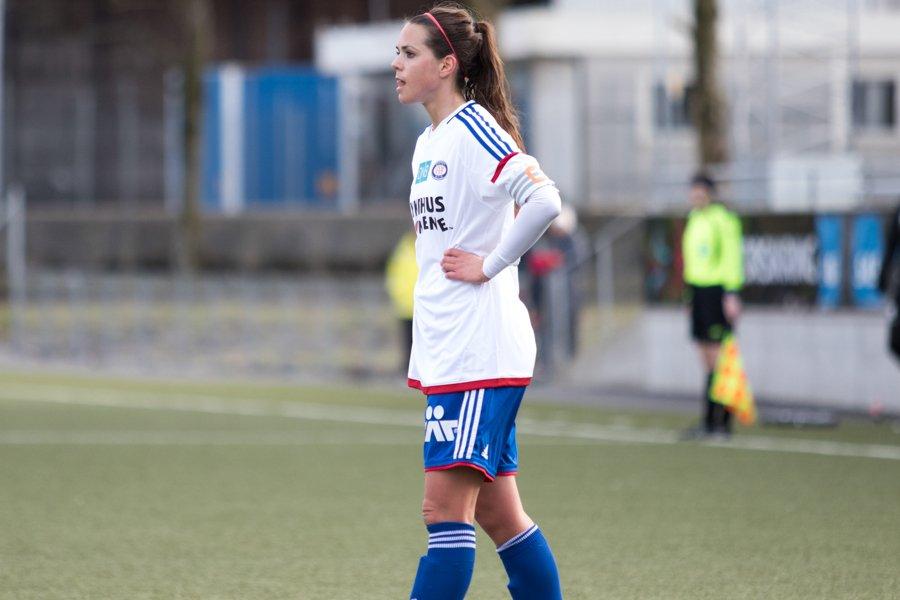 Tina Wulff er toppscorer i Vålerenga etter at hun scoret Vålerengas eneste mål i går. Foto: grydis.no