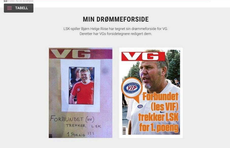 Faksmile fra VG.