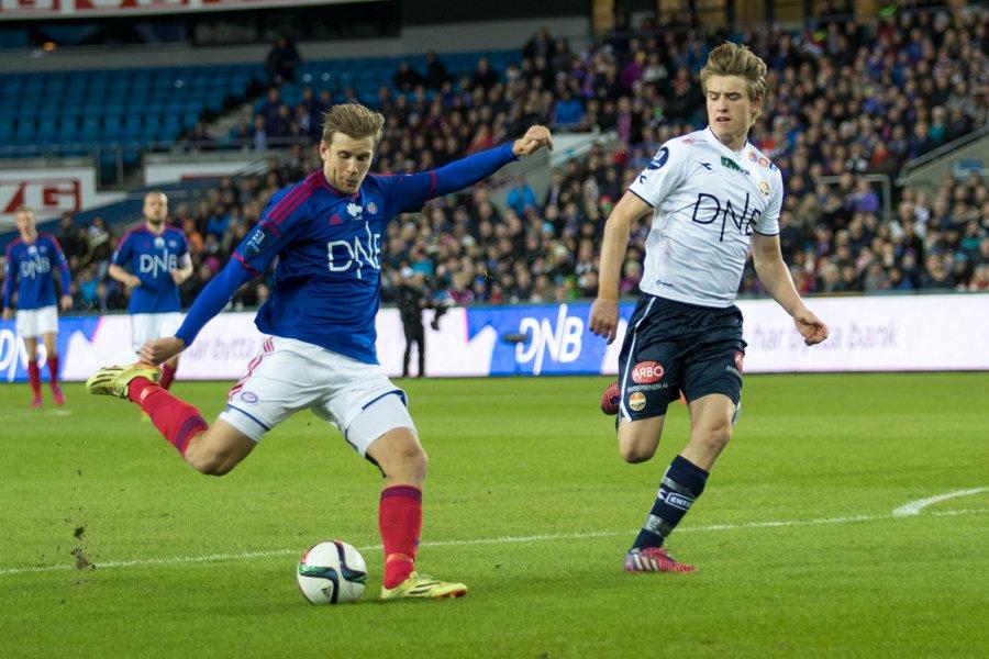 Niklas Gunnarssons 3-1-mål mot Strømsgodset tidligere i år skulle vise seg å bli hans siste for klubben - i denne omgang. Foto: grydis.no