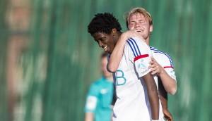 Moussa Nije og Herman Stengel mot Lokomotiv Oslo. Foto: vif-fotball.no
