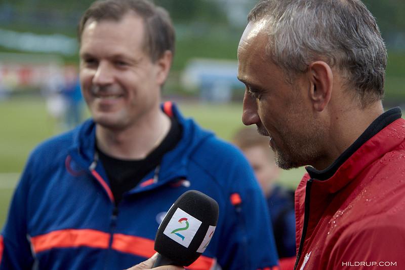 Bohinen og Rekdal i forbindelse med cupkampen mellom Asker og Vålerenga i 2013. Foto: hildrupphoto.com