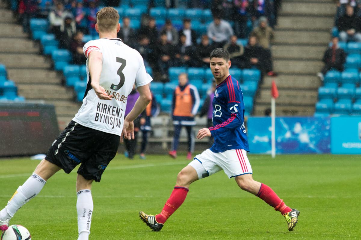 Daniel Fredheim Holm mot Mjøndalen. Foto: Grydis.no,