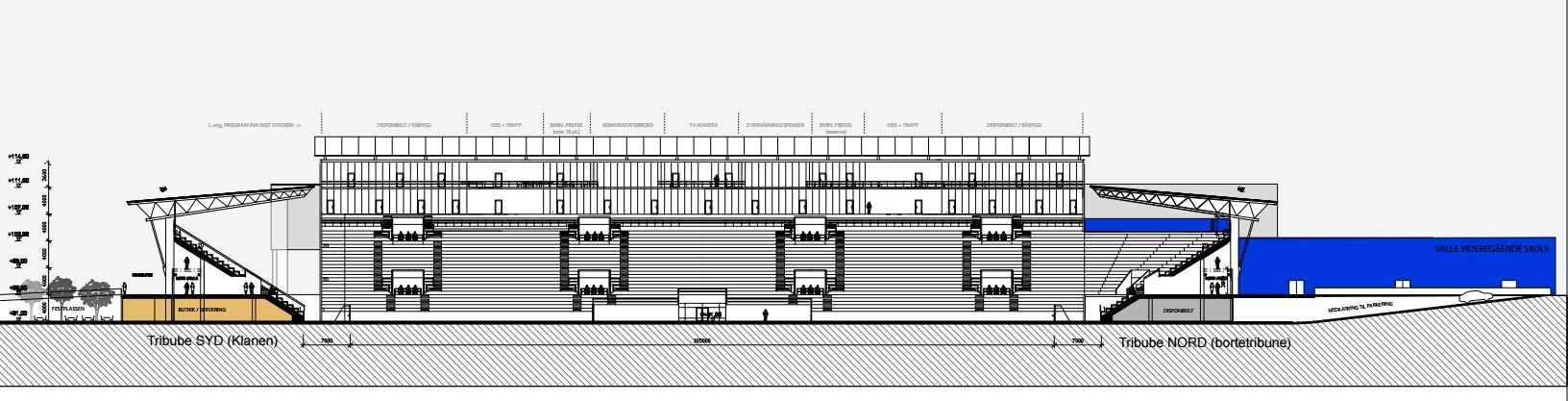 Tribune Syd Vålerenga Stadion