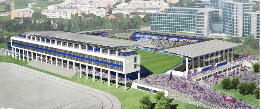 Vålerengas nye stadion.