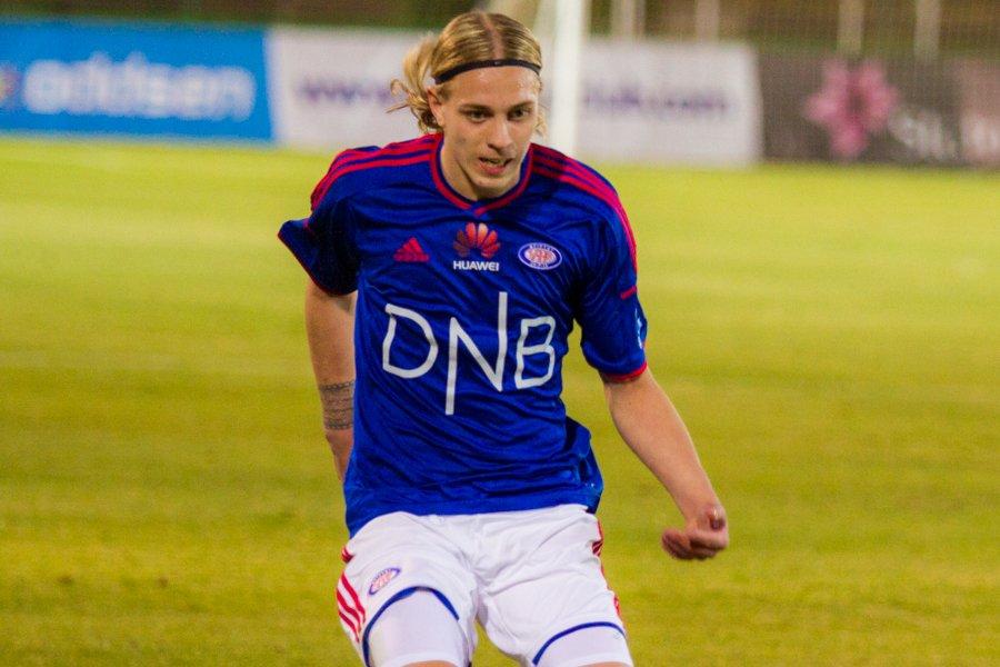 Elias Mar Omarsson var delaktig i Vålerengas to første mål. Foto: grydis.no