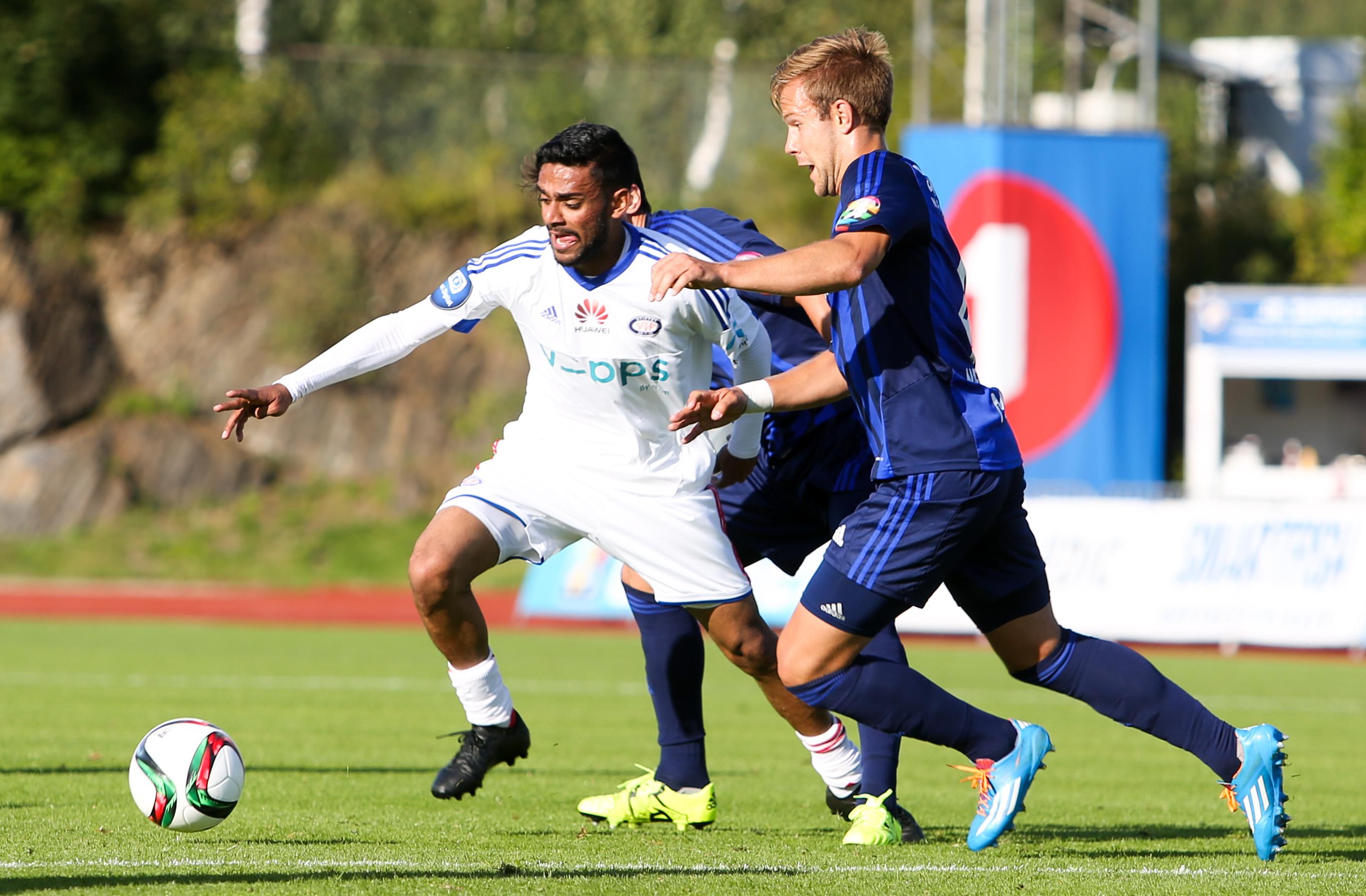 Ghayas Zahid fikk ikke enkle arbeidsforhold mot Stabæk. Foto: Eivind Hauger