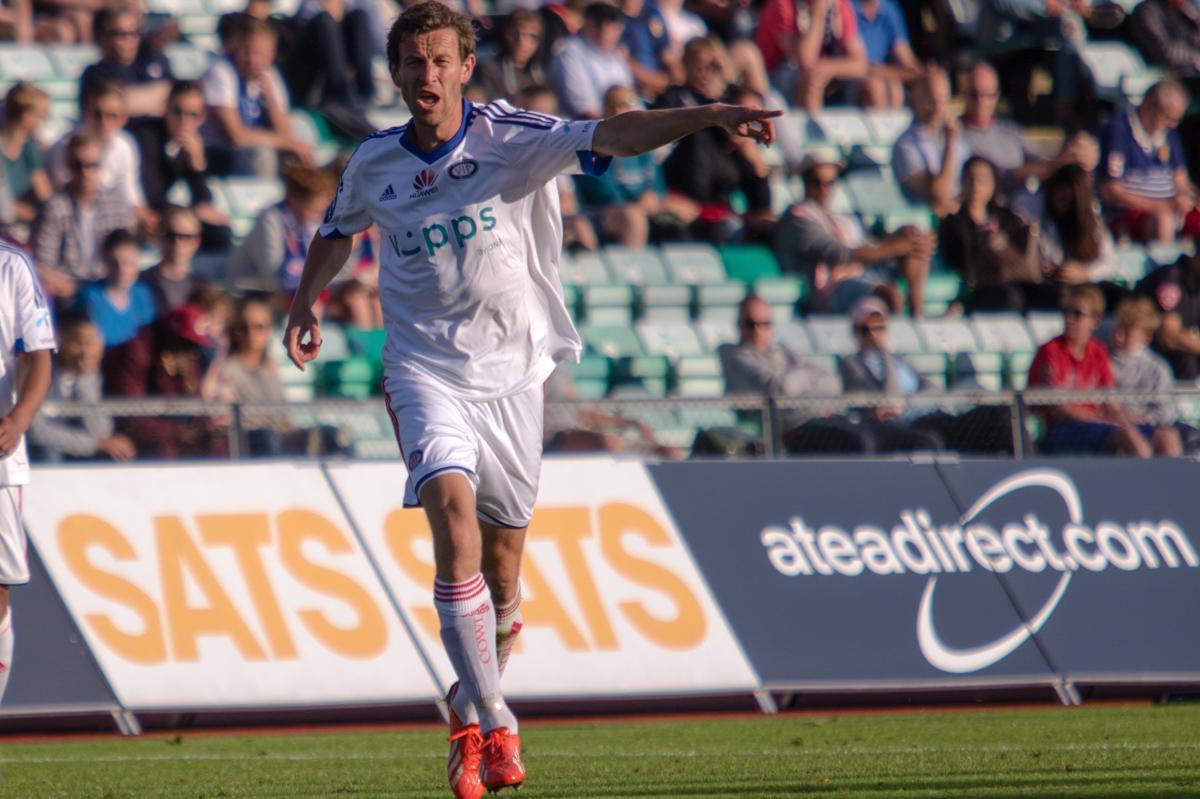Morten Berre i aksjon mot Stabæk. Foto: Grydis.no