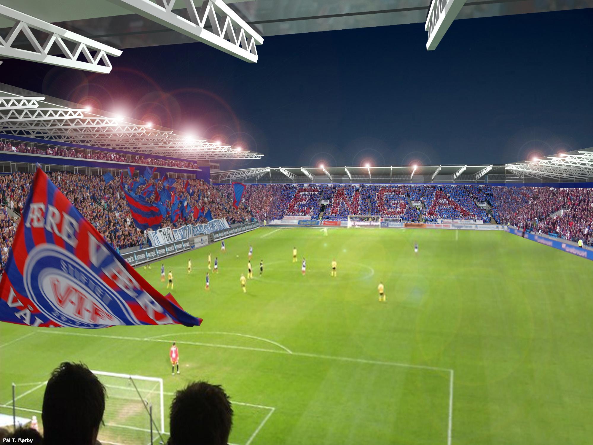 Bilde av Vålerenga Stadion med tilskuere