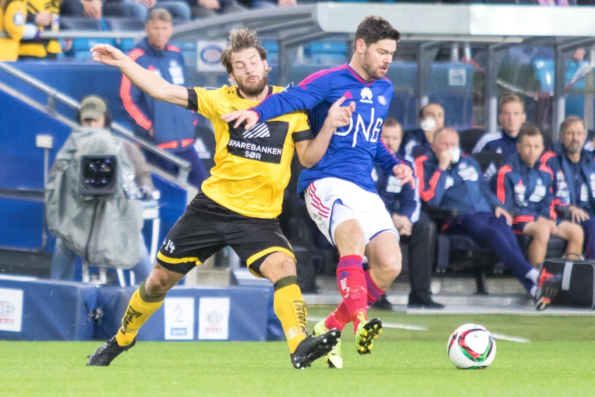 DFH scoret en perle av et mål på Åråsen i fjor. Får vi se ham spille i dag? Foto: Grydis.no