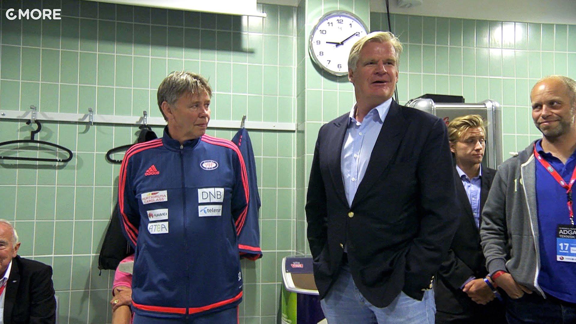 Tor Olav Trøim i garderoben på Ullevaal. Foto: Skjermdump fra Cmores Youtube-kanal