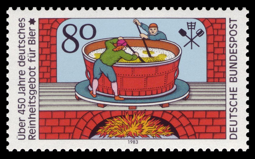 Tysk frimerke fra 1983 som markerte renhetsloven