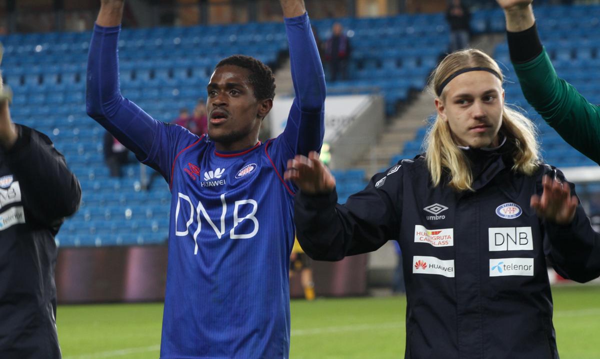 Brown og Omarsson startet mot Hønefoss. . Foto: Line Svalastog.
