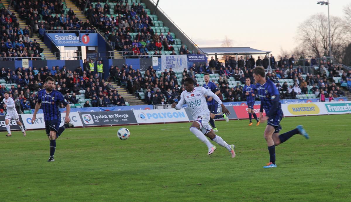 Deshorn Brown kjempet mye og godt mot Stabæk. Foto: Line Svalastog.