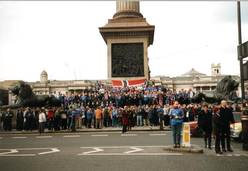 Trafalgar Square, 1999. Foto: Klanen