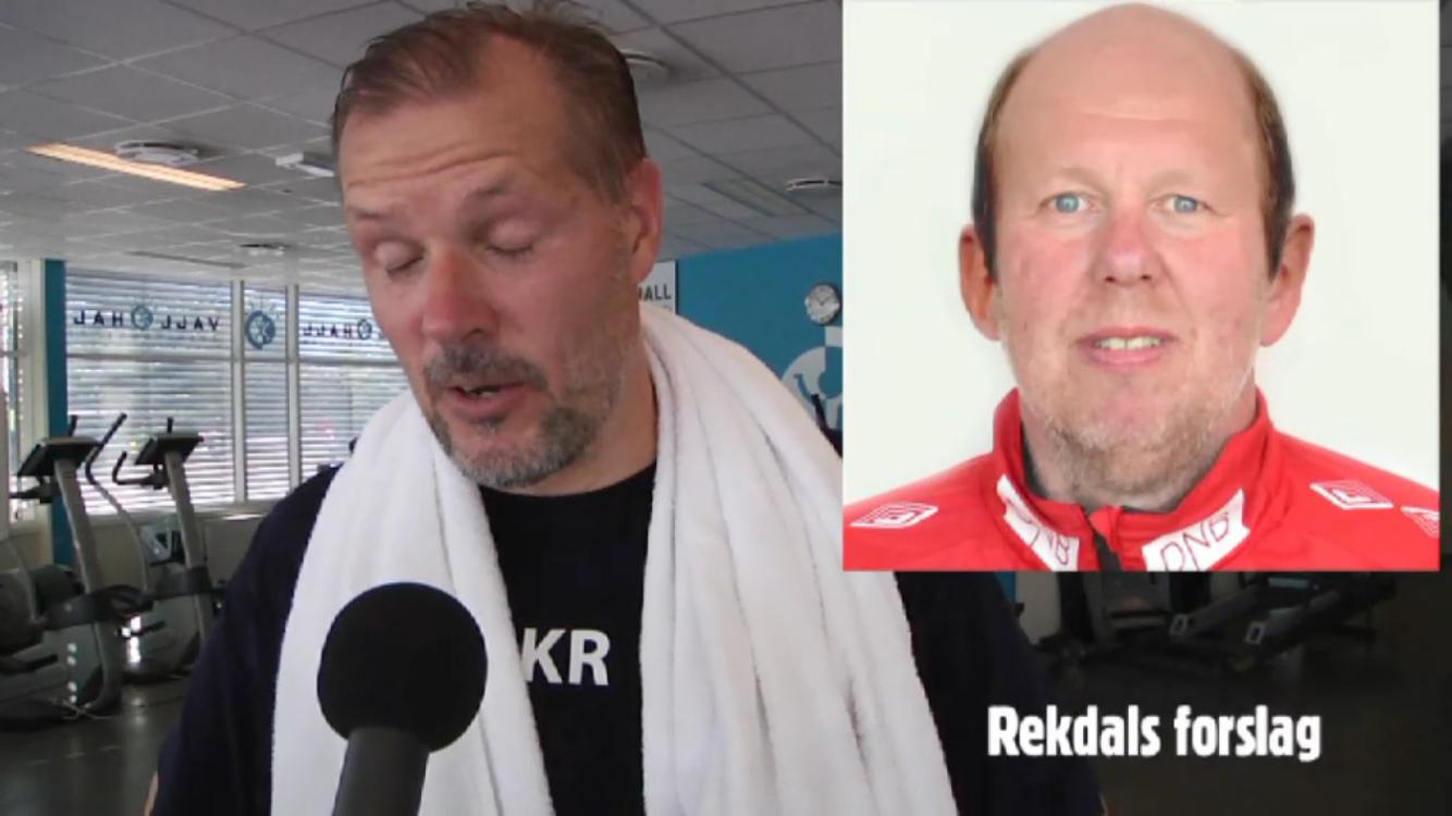 Keepertrener Gjermund Østby stiller med ny sveis for anledningen. Skjermdump: vif-fotball.no
