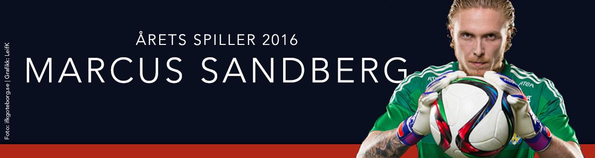 Årets Spiller 2016 Marcus Sandberg